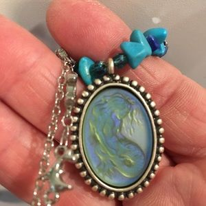 Retired Kirks Folly Mermaid iridescent necklace